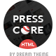 PressCore: responsive multipurpose HTML5 template - ThemeForest Item for Sale