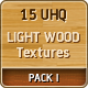 15 UHQ Light Wood Textures: Pack I - GraphicRiver Item for Sale