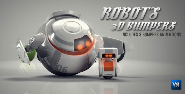 After Effects Project - VideoHive Robots 3D logo bumpers 537718