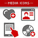 Media & Marketing Icons Set - GraphicRiver Item for Sale