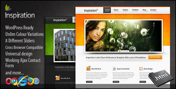 ThemeForest - Inspiration Premium xHTML/CSS Template - RiP