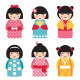 Dolls in Japanese Style - GraphicRiver Item for Sale