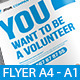 Volunteer Flyer & Posters - GraphicRiver Item for Sale