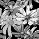 Seamless Vintage Black and White Floral Background - GraphicRiver Item for Sale