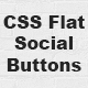 CSS Flat Social Buttons - CodeCanyon Item for Sale
