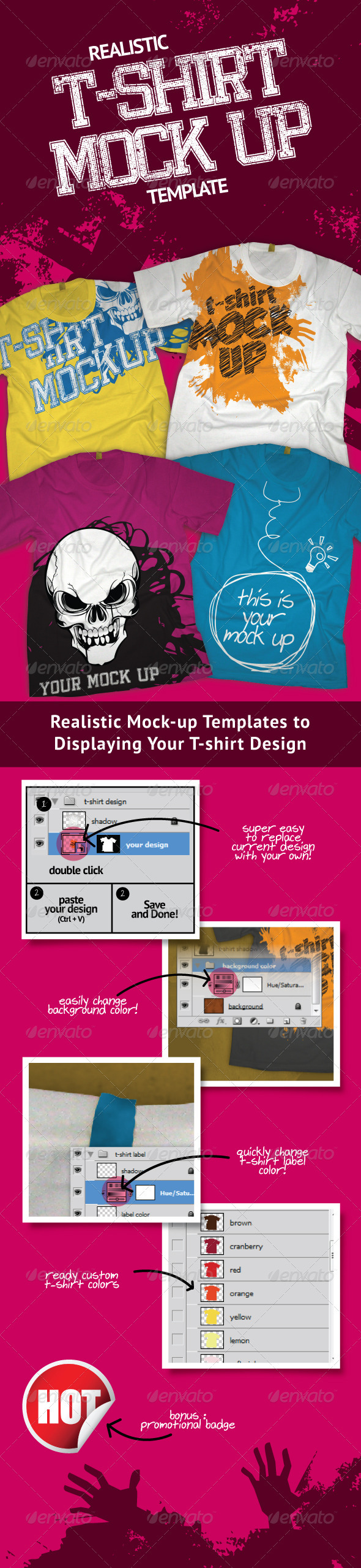 GraphicRiver Professional T-shirt Mock-Up 537092
