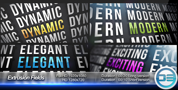 After Effects Project - VideoHive Extrusion Fields 542014