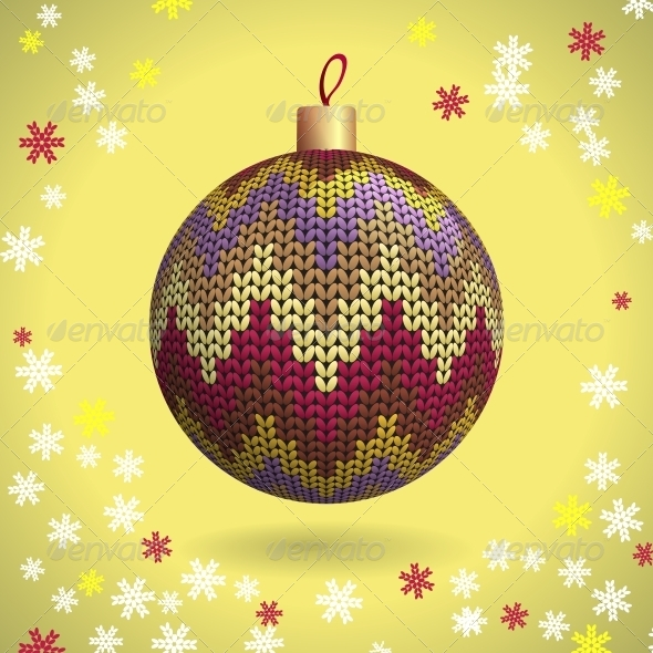 GraphicRiver Knitted Christmas Ball 5276940