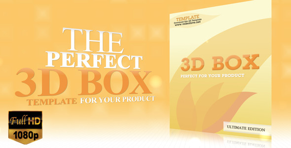 After Effects Project - VideoHive 3D Product Box Presentation 544000