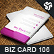 Business Card Design 106 - GraphicRiver Item for Sale