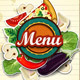 Menu Cover with Sheet of Paper - GraphicRiver Item for Sale