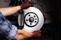Car mechanic Repairing brakes on car - PhotoDune Item for Sale