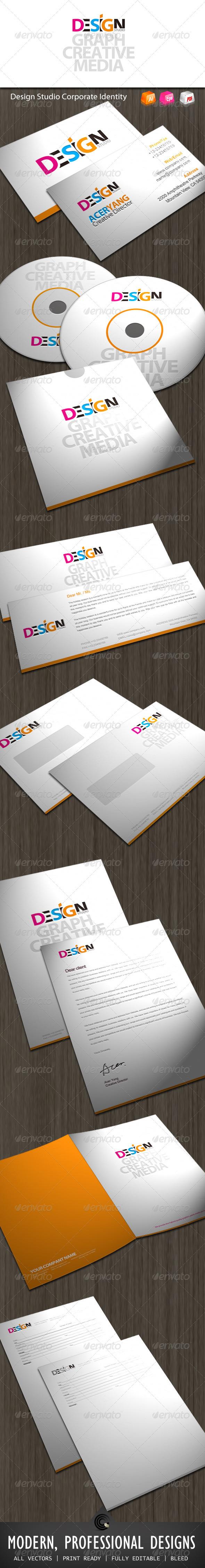 Graphic River Design Studio Corporate Identity Print Templates -  Stationery 545567