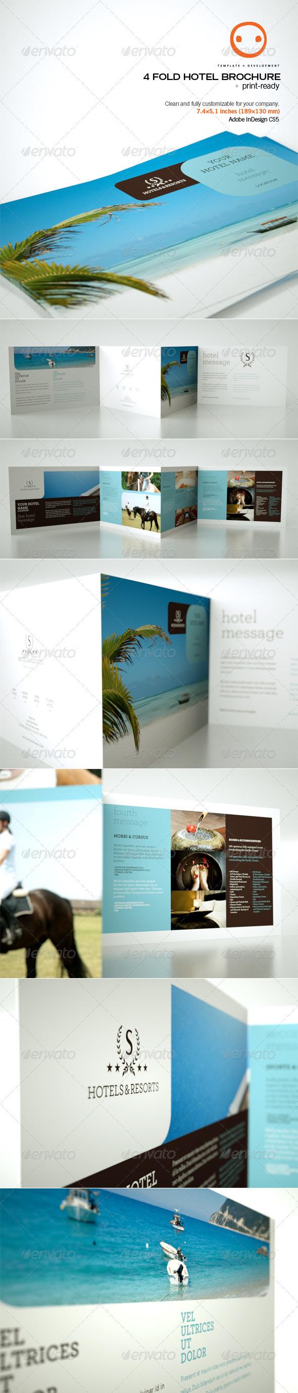 GraphicRiver 4 Fold Hotel Brochure 537003