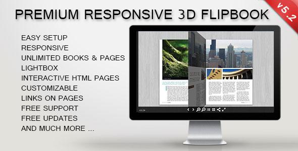 3D FlipBook - Responsive jQuery Plugin - CodeCanyon Item for Sale