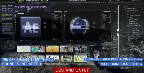 After Effects Project - VideoHive Futuristic GUI Portfolio 538084