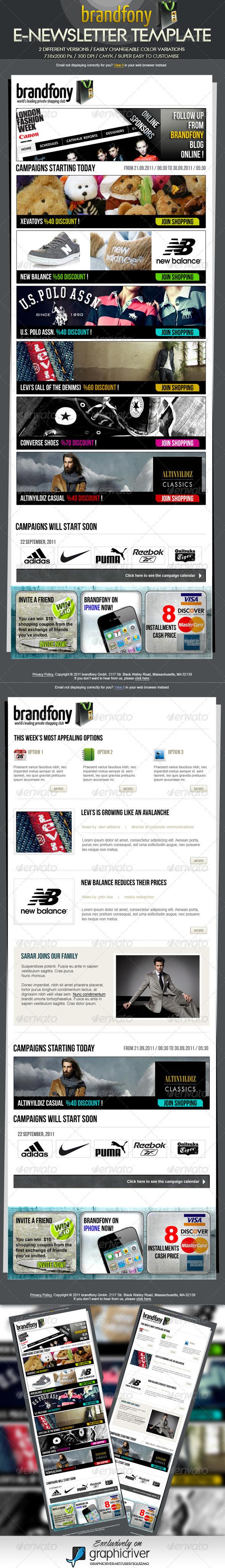 GraphicRiver Brandfony E-Newsletter Template 546362