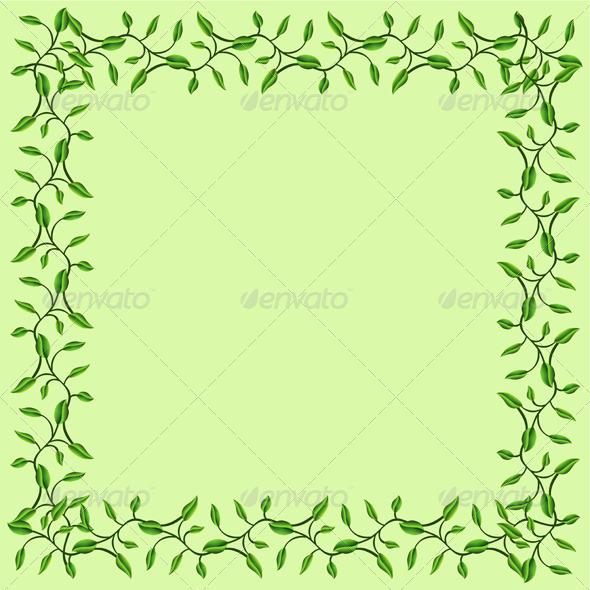 Graphic River Olive Branches Decorative Frame Vectors -  Decorative  Flourishes / Swirls 546634