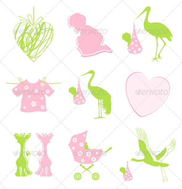 Graphic River Birth icon Vectors -  Characters  People 546785