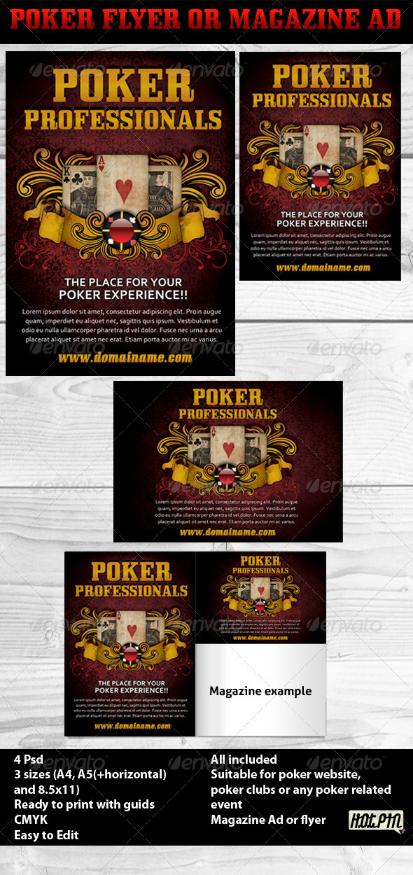 GraphicRiver Poker Magazine Ads or flyers 3 547600