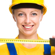 Young construction worker with tape measure - PhotoDune Item for Sale