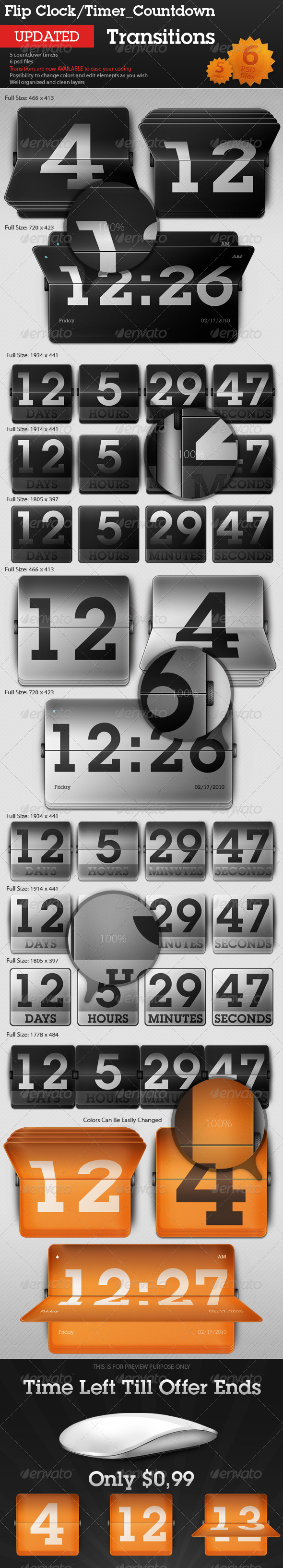 GraphicRiver Flip Clock Countdown Timer Transitions 94862