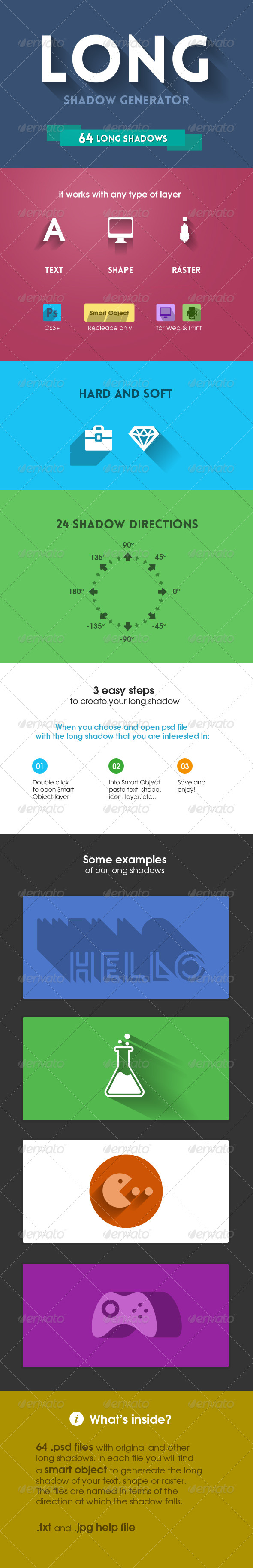 GraphicRiver Long Shadow Generator 5315624