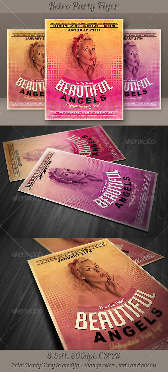 GraphicRiver Minimalistic Retro Party Flyer 5318336