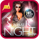 Summer Night Flyer Template  - GraphicRiver Item for Sale