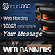 Web Hosting Campaign Web Banners - GraphicRiver Item for Sale