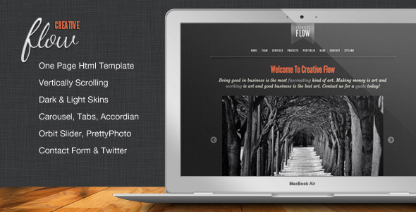 ThemeForest - Creative Flow - Scrolling Portfolio Template - RiP