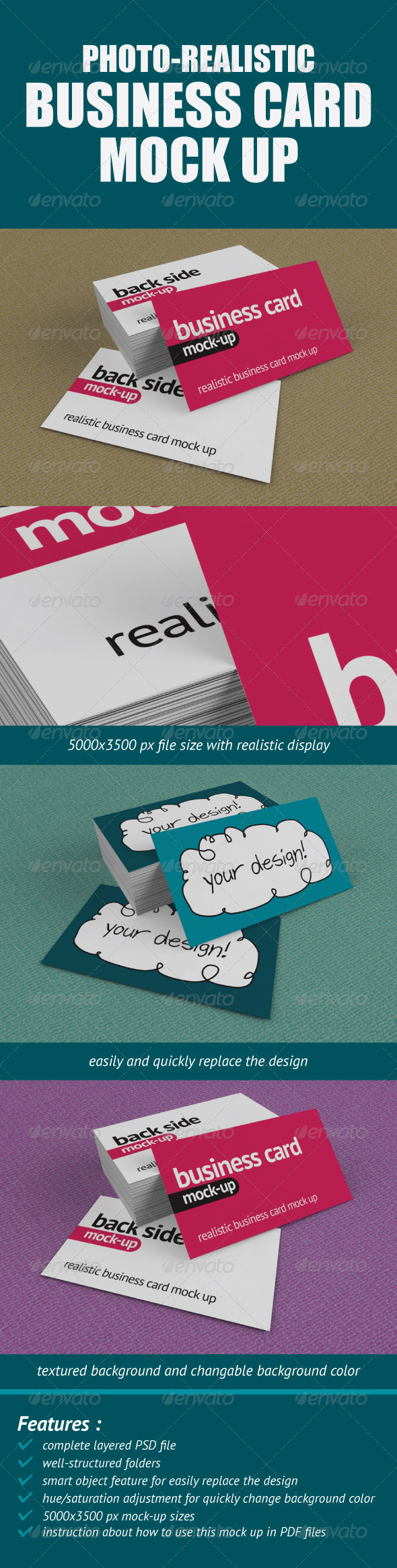 GraphicRiver Photo-Realistic Business Card Mock-Up 549753