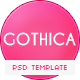 Gothica - A one Page Template in Goth Style - ThemeForest Item for Sale