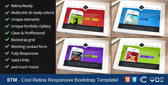 STM - One Page Responsive Portfolio Template - 7