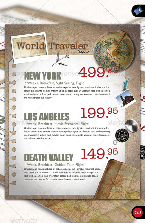 GraphicRiver Business Flyer World Traveler 544694