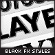 Black Sleek Layer Styles - GraphicRiver Item for Sale
