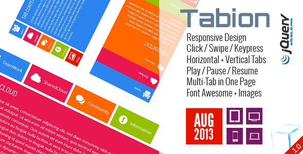 Tabion jQuery – Modern Responsive Tab Accordion (Navigation) images