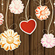 Background with Heart and Flowers - GraphicRiver Item for Sale