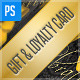 Gift Card, Store, Loyalty Card Template - GraphicRiver Item for Sale