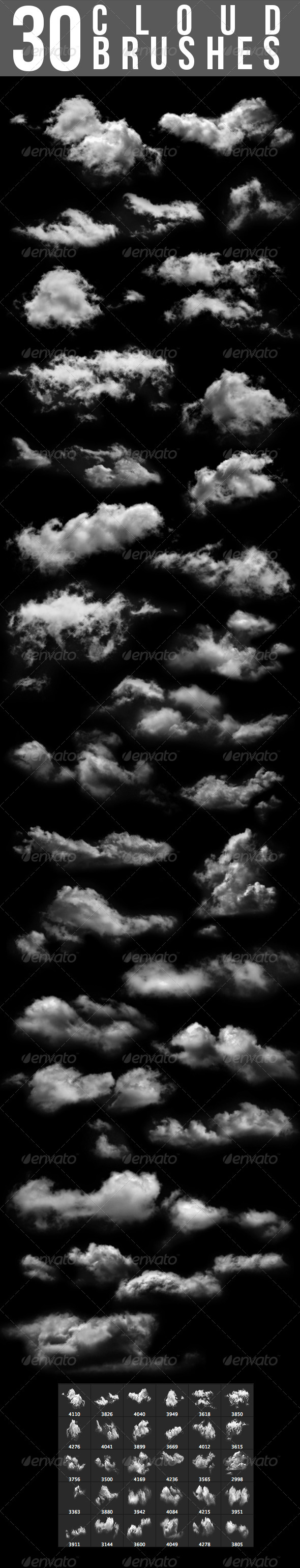 30 Cloud Brushes - Add-ons