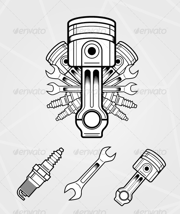 Engine parts | GraphicRiver