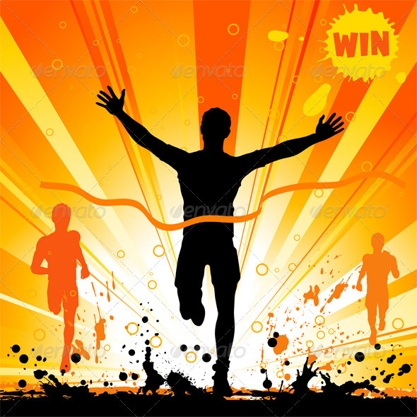 GraphicRiver Silhouette of a Man Winner 552155