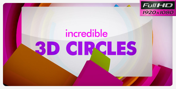 After Effects Project - VideoHive Incredible 3D CIRCLES 552310