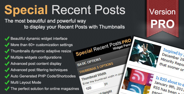 CodeCanyon Special Recent Posts PRO 552356
