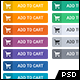 Flat Design Shopping Cart Buttons (12 Colors) - GraphicRiver Item for Sale