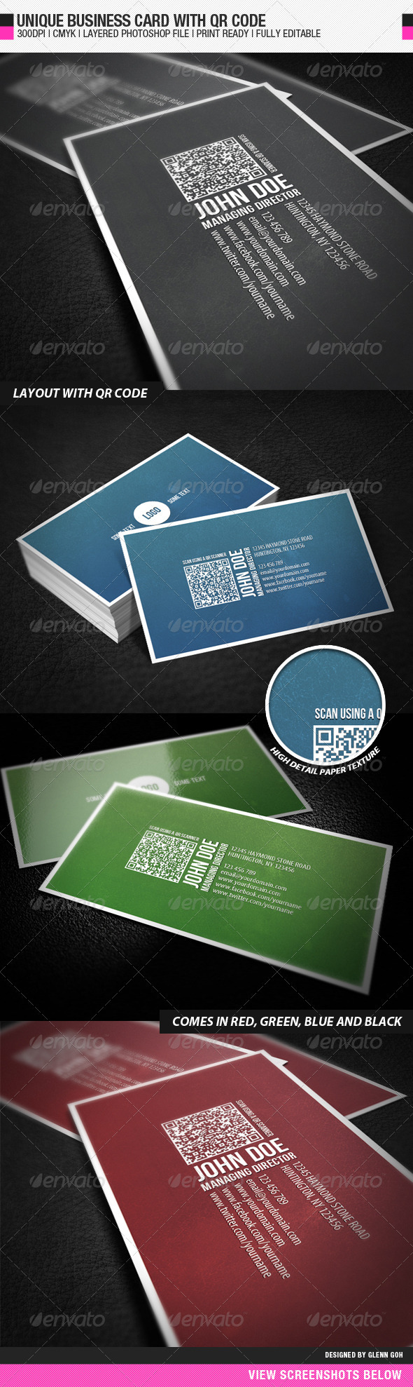 GraphicRiver Business Card With QR Code 553561