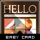 Say Hi - Baby Announcement Card - GraphicRiver Item for Sale