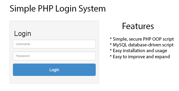 simple php template system - simple php login system new psd templates