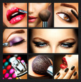 Makeup Collage. Professional Make-up Details. Makeover - PhotoDune Item for Sale