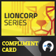 Lioncorp Series - Compliment Card - GraphicRiver Item for Sale